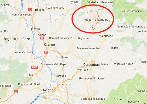 vaison la romaine carte RIDEANDPICS CARTE VAISON LA ROMAINE   RIDE AND PICS